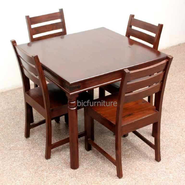 Teakwood Square Dining Table