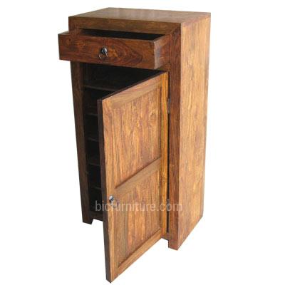 tall shoe rack in sheesham wood