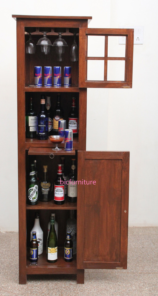 Slender Tall Bar Cabinet for Home Use | Bar Furniture Designs at BIC
