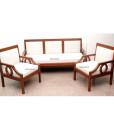 Contemporary wooden sofa set in Teakwood (1)