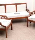 Contemporary wooden sofa set in Teakwood (5)