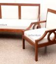 Contemporary wooden sofa set in Teakwood (6)