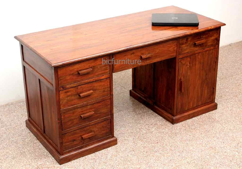 Large Wooden Office Writing Table