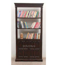 Ructic wooden 2 door bookshelf (1)