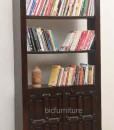 Ructic wooden 2 door bookshelf (2)