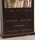Ructic wooden 2 door bookshelf (3)