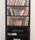 Ructic wooden 2 door bookshelf (5)