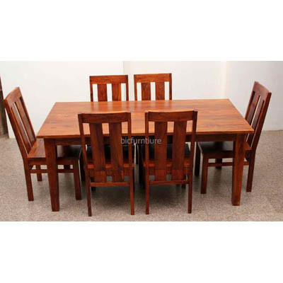 Six seater solid wood dining table  (1)