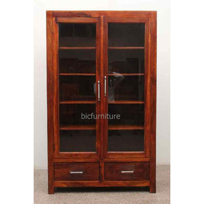Spaceous wooden showcase display cabinet (1)