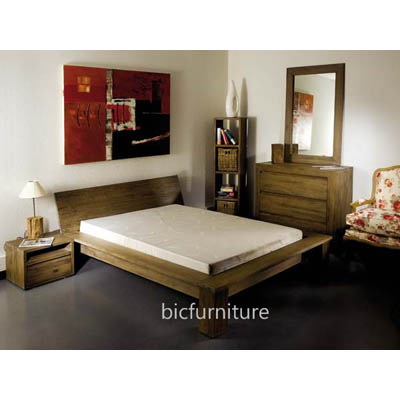 Bedroom Set made of Pure Teak Wood | Bed, Dresser, Bedside Cabinet etc