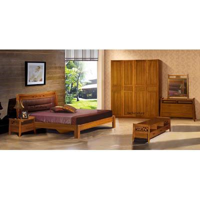 Bedroom Set in High Quality Teakwood   Bed, Wardrobe, Cabinet, Dresser