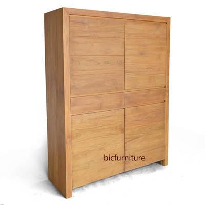 Wooden two door wardrobe four wooden doors (2)