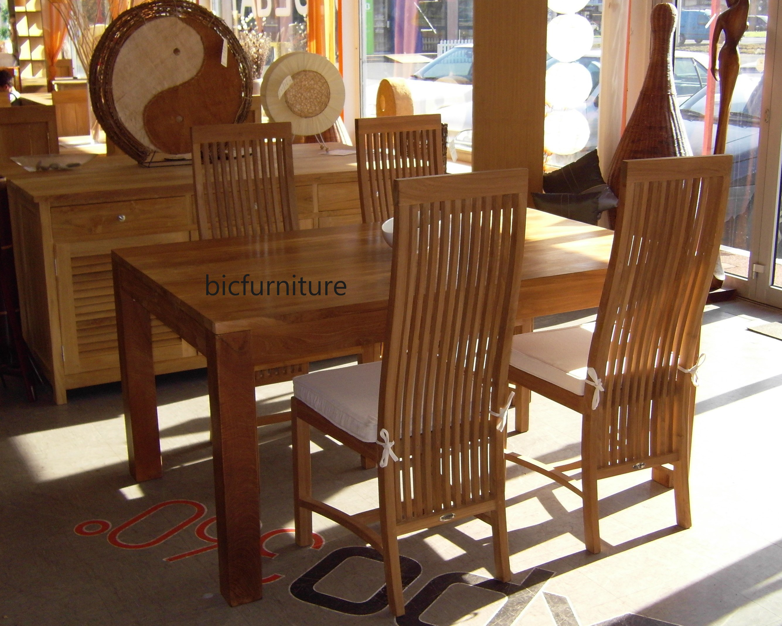 High Quality Teak Wood Dining Set for the Discerning Home Owner by BIC
