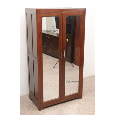 Teakwood mirror wardrobe (1)