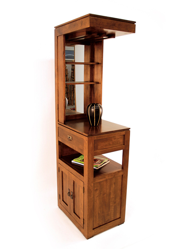 Indian Bar Furniture - Tall sleek Cabinet with Mirror  BIC
