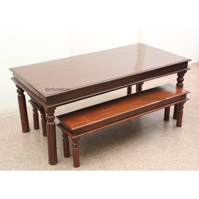Wooden dining bench (1)