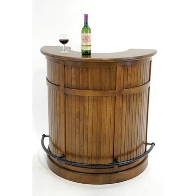 Wooden round bar cabinet (1)