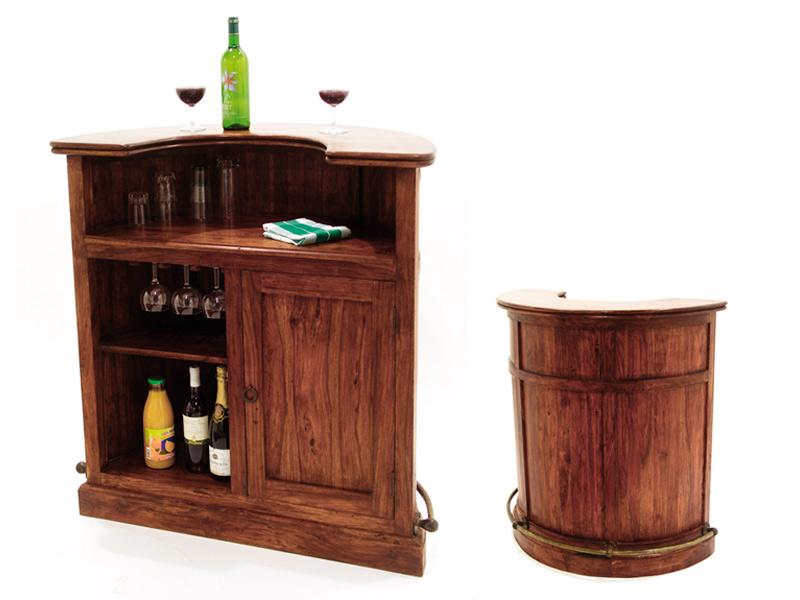 Amazing Wooden Round Bar Cabinet ...