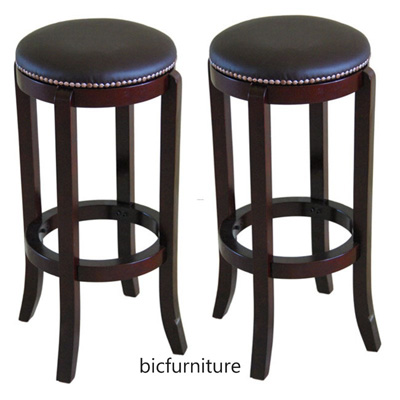 pretty nice 59369 5cacc Wooden Bar Stool round seat (ST 8)