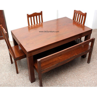 Teakwood Dining Bench Set 1