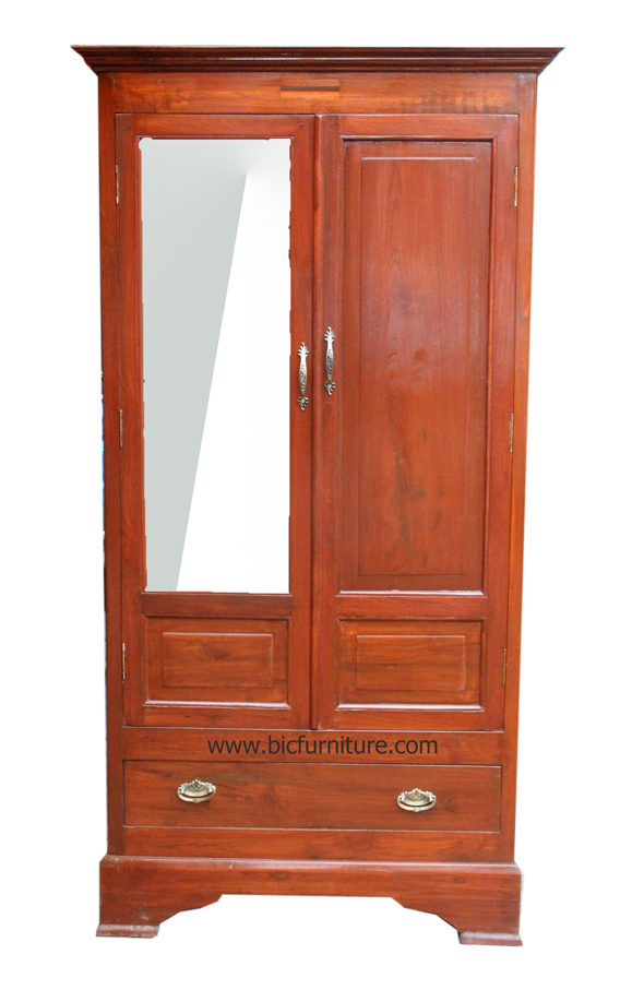 cupboard luxury wooden of glass doors stock with image