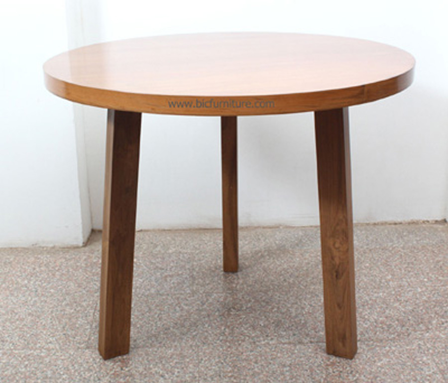Round Small Teakwood Dining Table