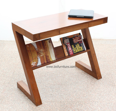Stylish_writing table_ teak wood