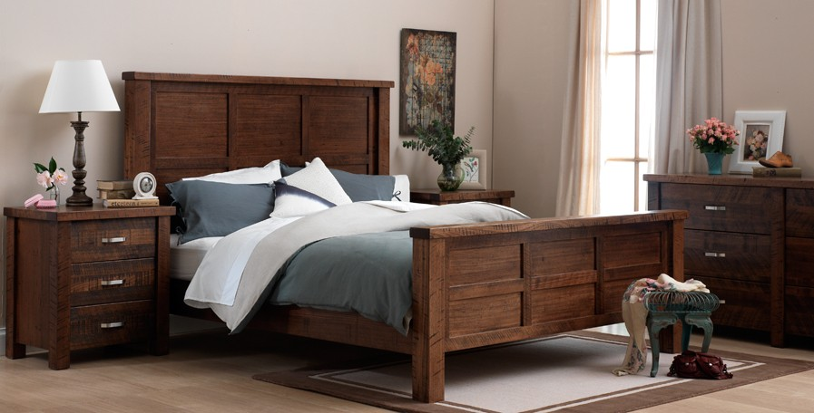 Bedroom set with a rustic feel | customise your furniture online | bic
