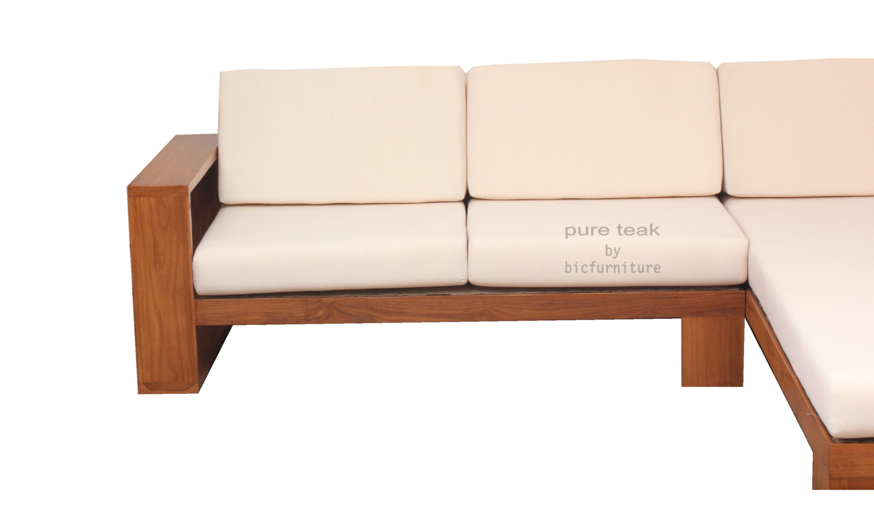 Shape Sofa Made In Teakwoood In Mumbai Showroom. Full resolution  file, nominally Width 3000 Height 1800 pixels, file with #9B6130.