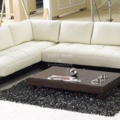 Low Teakwood Living Room Sofa Set Ls 3