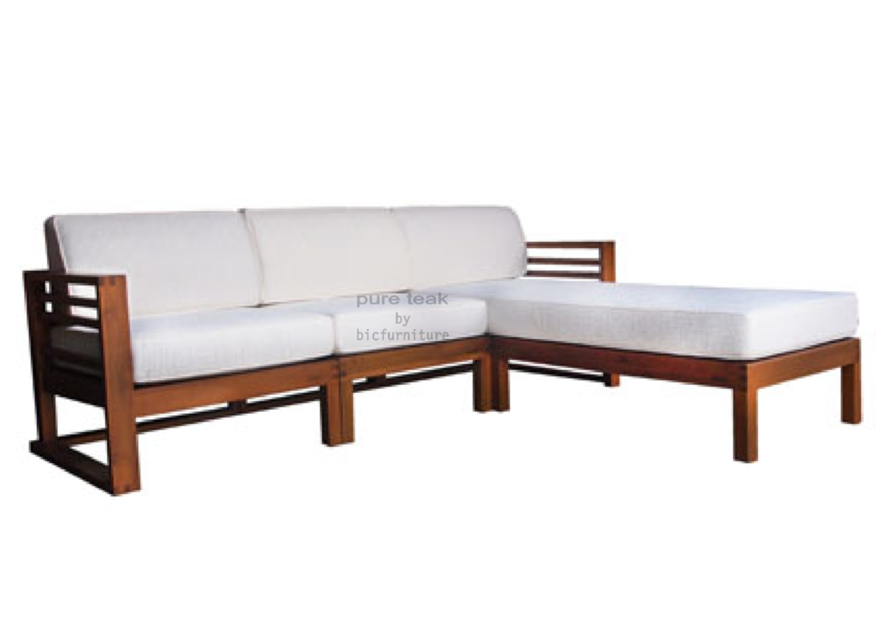 L Shape Teak Wood Sofa Set For Living Room ~ Wooden Sofa Sets For Living Room