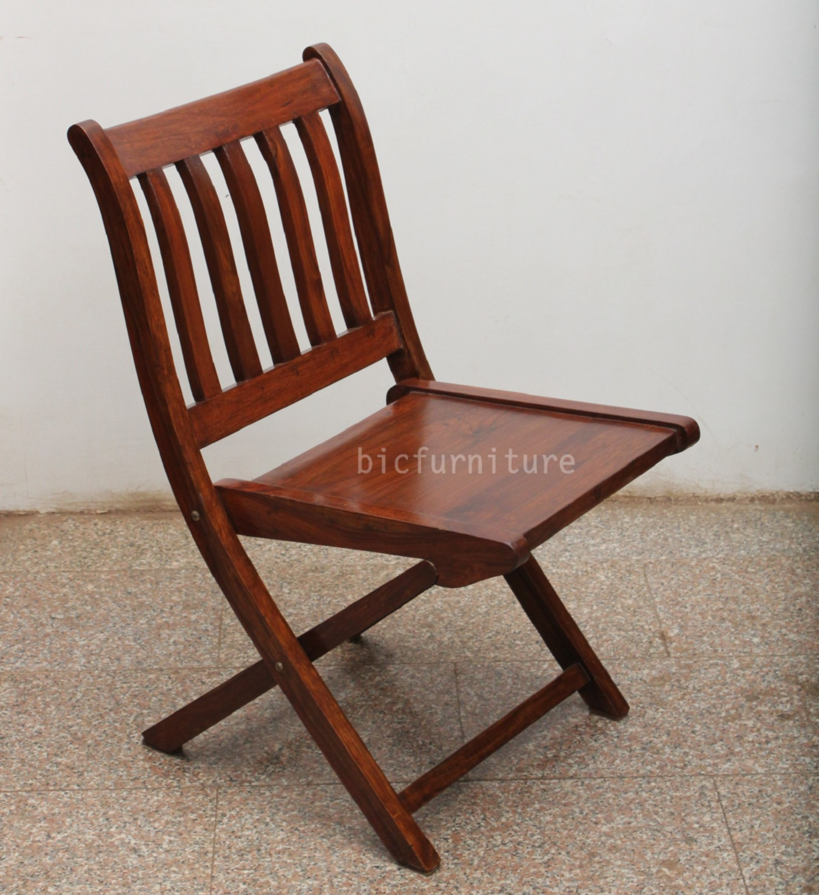 picked red vintage chairs folding wood chair