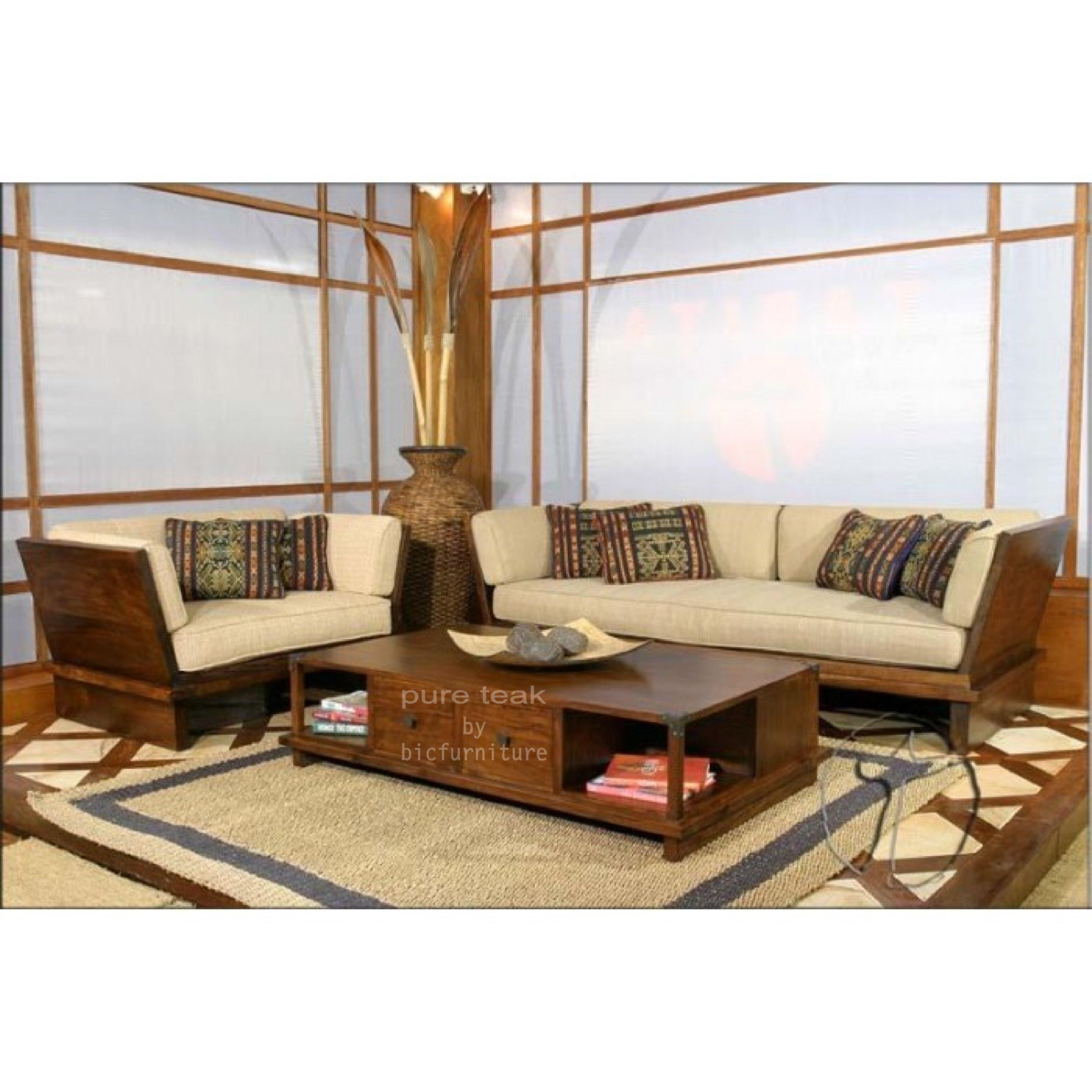 Solid Handle Sofa Set Manufactured In Teak Mumbai Store Bic