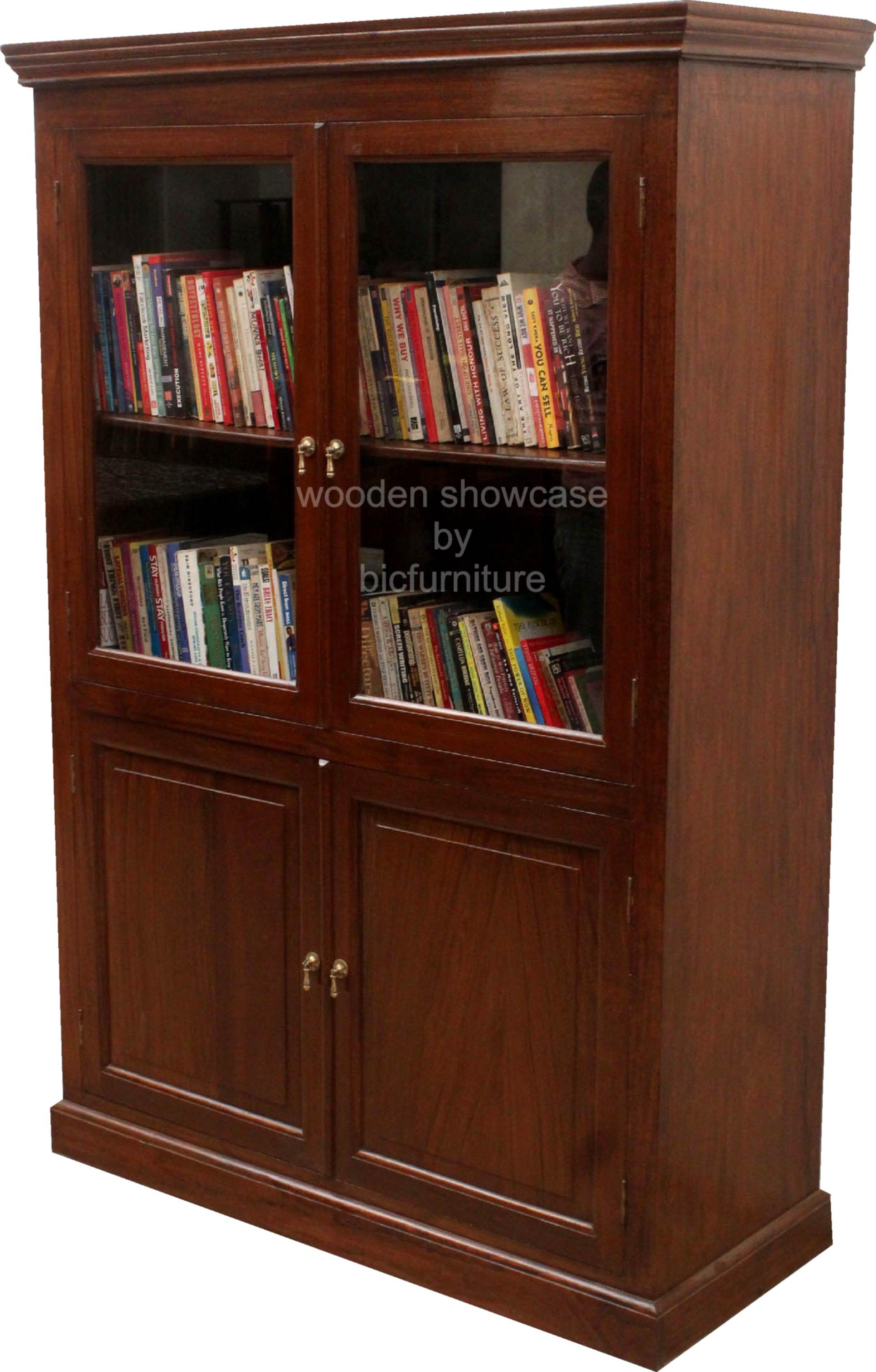 Wooden Showcases For Living Room