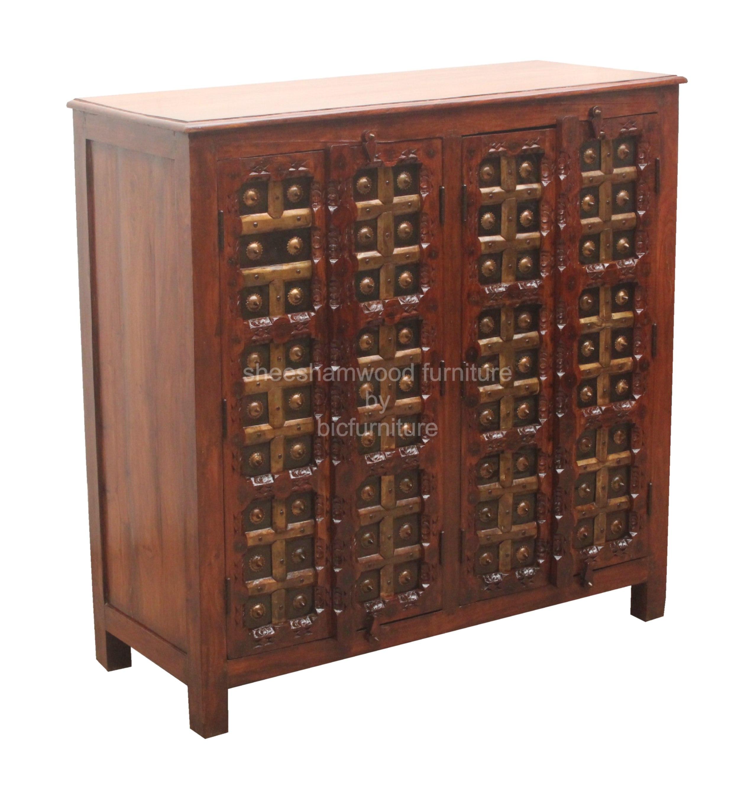 Antique_sideboard_sheesham. Brass_cabinet_antique.  Brass_cabinet_antique_sheesham_wood