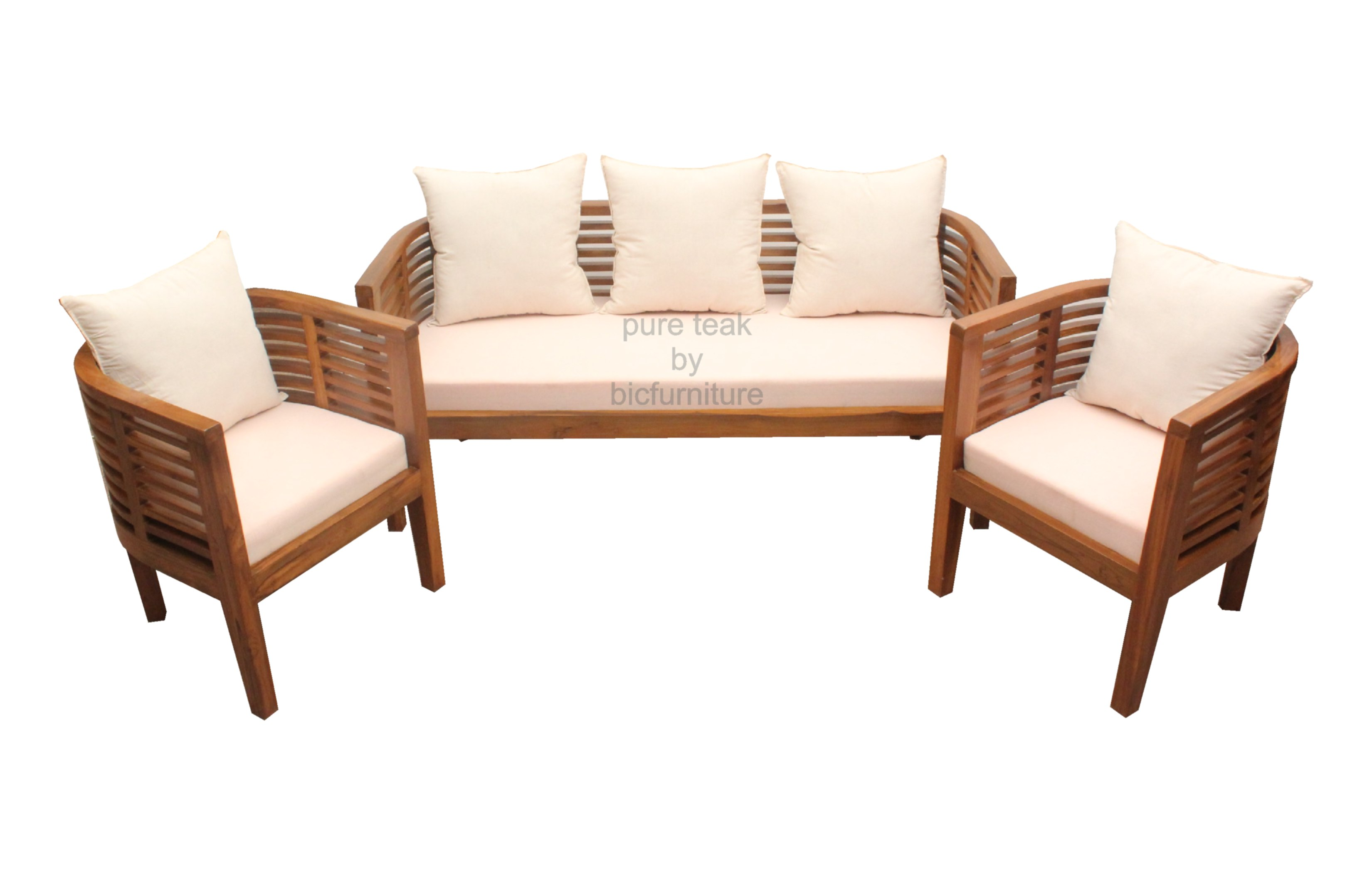 Teak Wood Round Sofa Makers In Sleek Mumbai Homes Design ~ Wooden Sofa Sets For Living Room