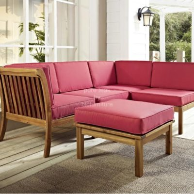 L shape wooden sofa (WS 24)