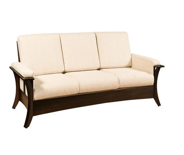 Modern wooden sofa set - comfortable