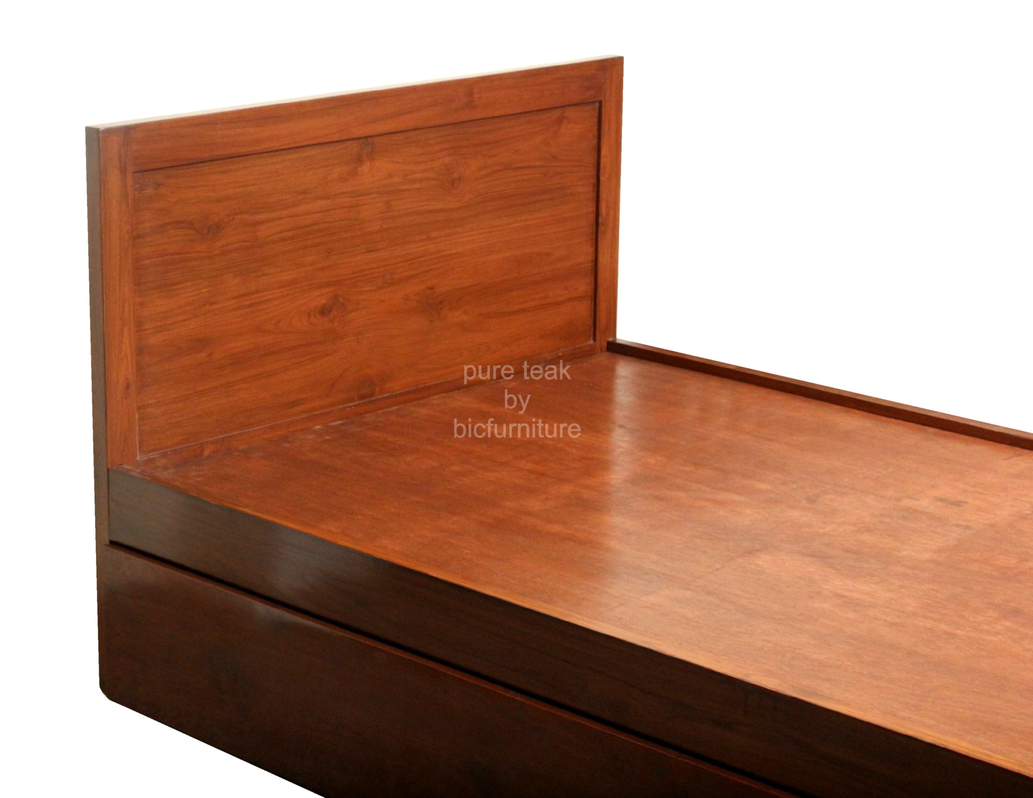 Single bed furniture design - Wooden_single_bed_with_storage