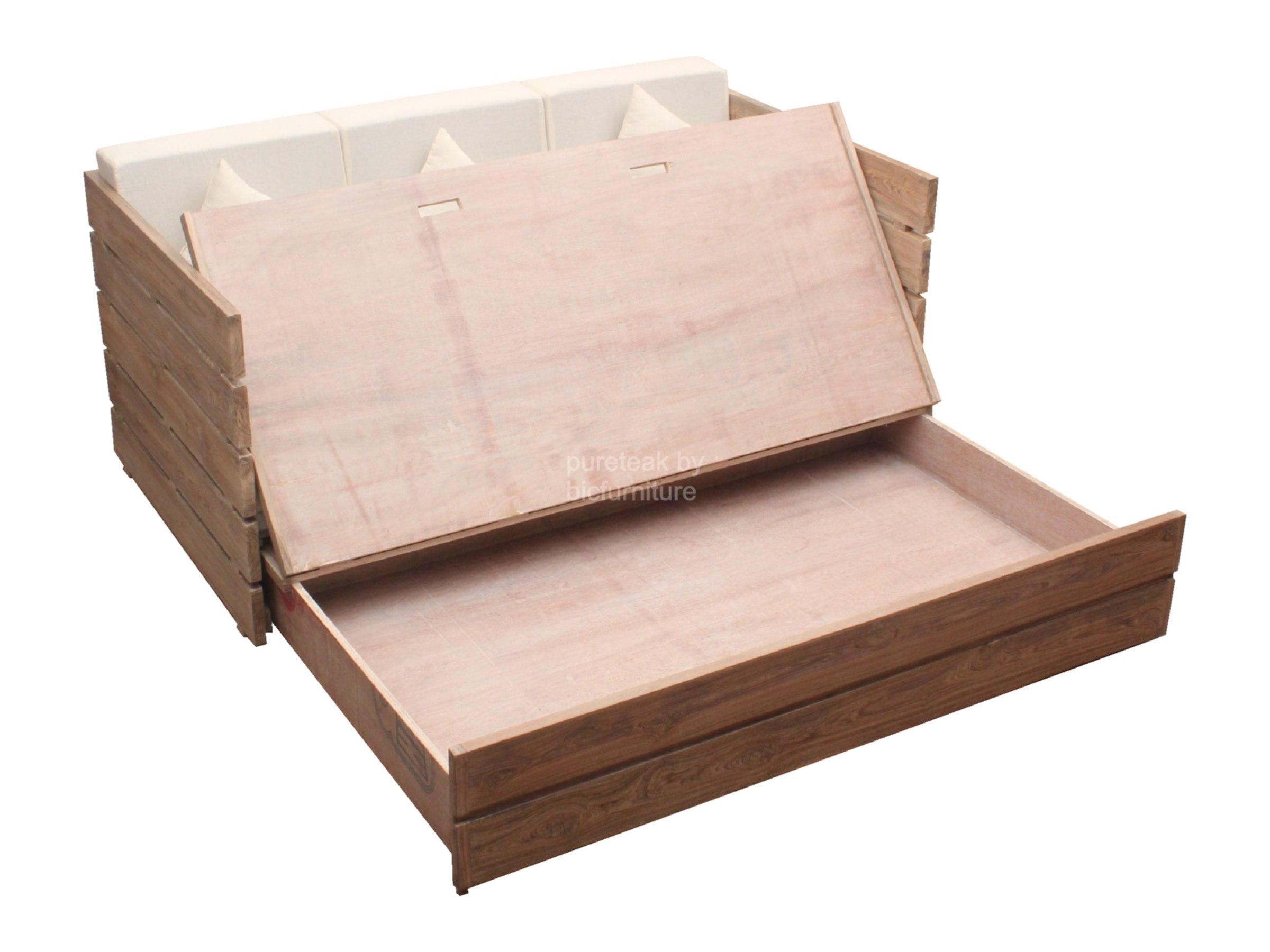 Wood sofa bed smileydot