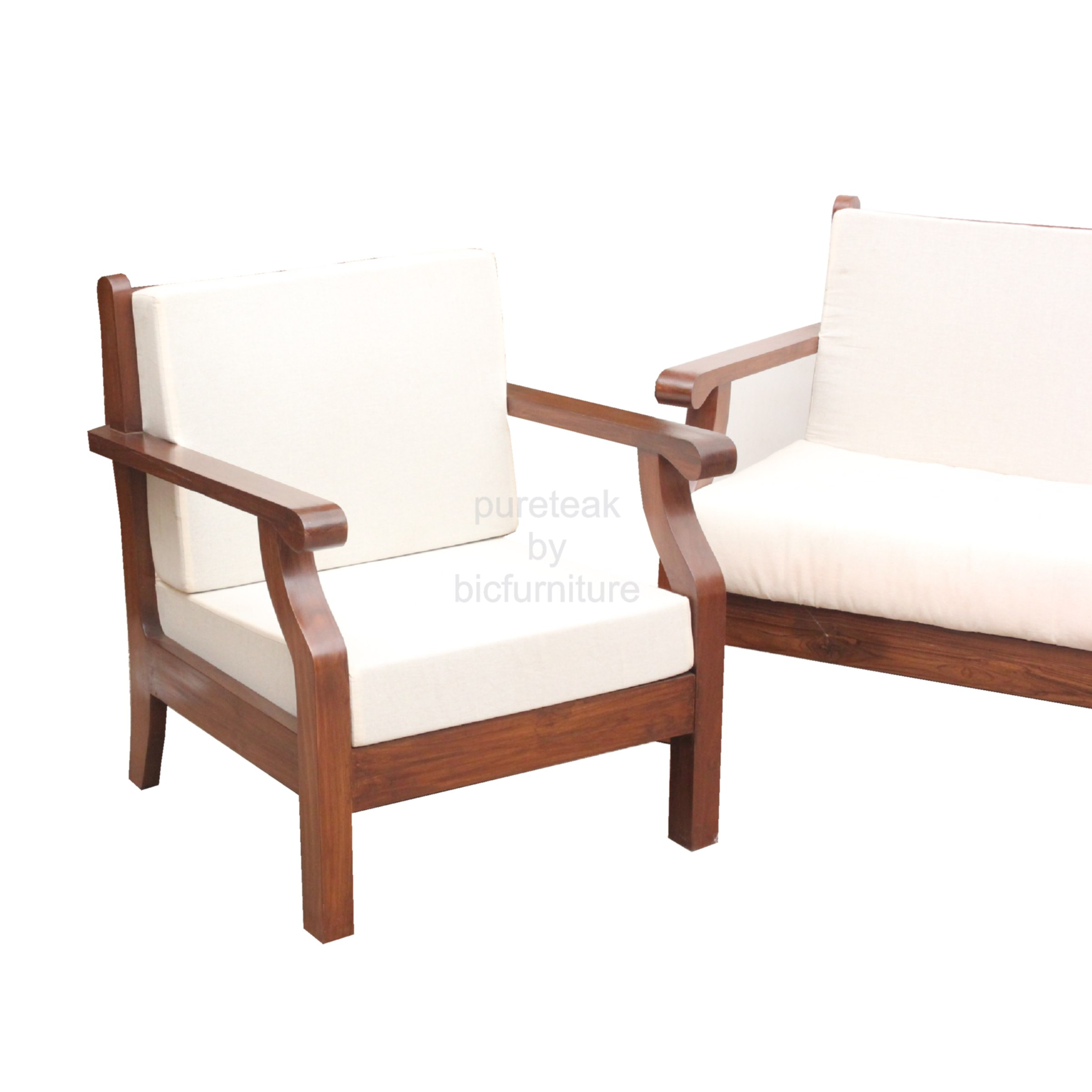 Wooden Chairs For Living Room WS 30 Curved handle te...
