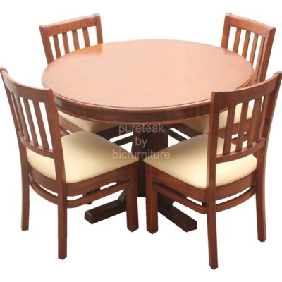 comfortable_round_dining_set_with_4_chairs
