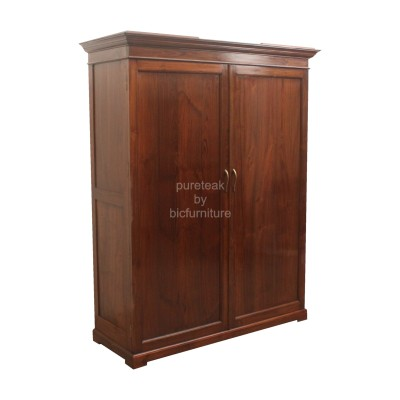 solid_teak_wood_2_door_wardrobe_brass_handles_large_modern_made_to_order_cupboard