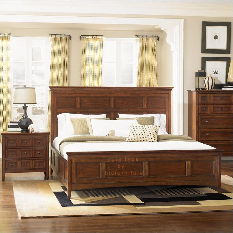 Bedroom set in pure teak wood (TWB 26) Details | BIC Furniture India