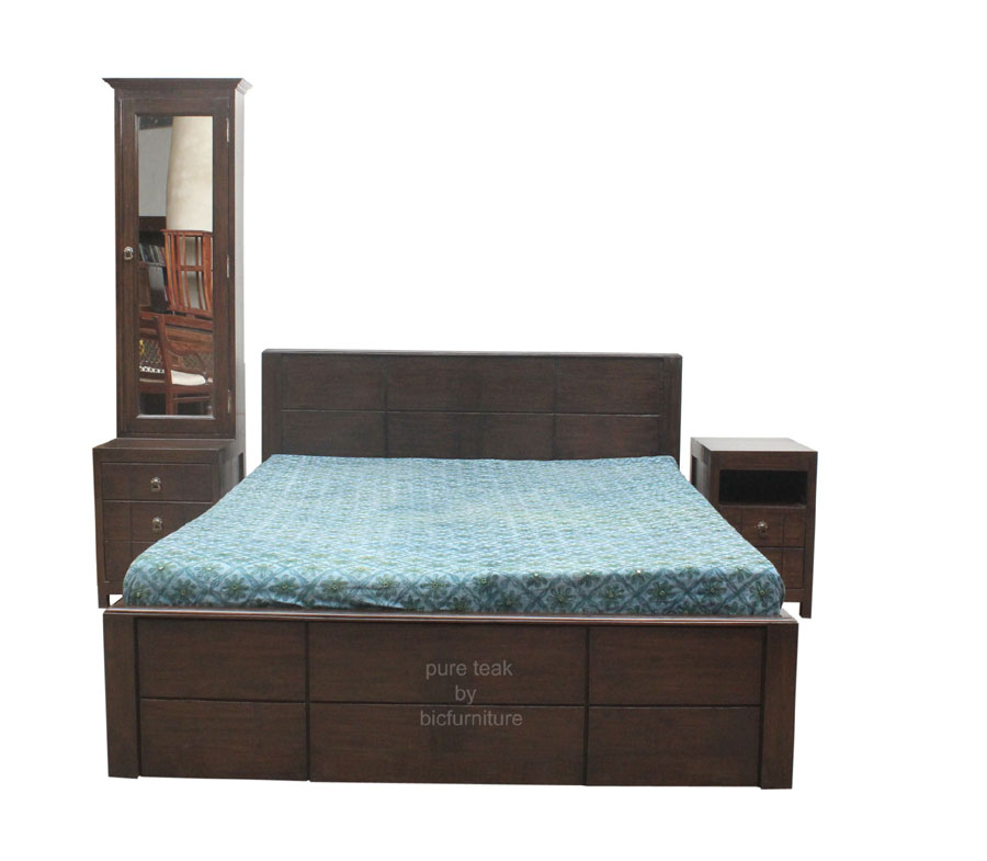 Bed room set with side and dressing table (TWB 23) Details   BIC ...