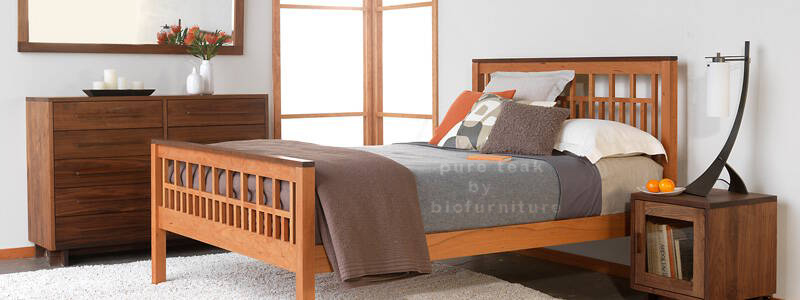 Teak Wood Bed In Simple Design
