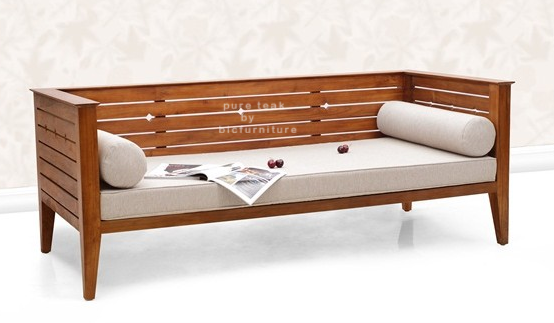 Teak Wood Divan Style Sofa Ws 42 Details Bic Furniture India