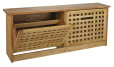 Shoe_rack_box_pattern_solid_wood_natural_finish