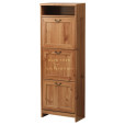 Trendy_Unfinished_Wooden_Three_Shoe_Storage_Escorted_By_Single_Open_Rack_As_Traditional_Shoes_Cabinets.