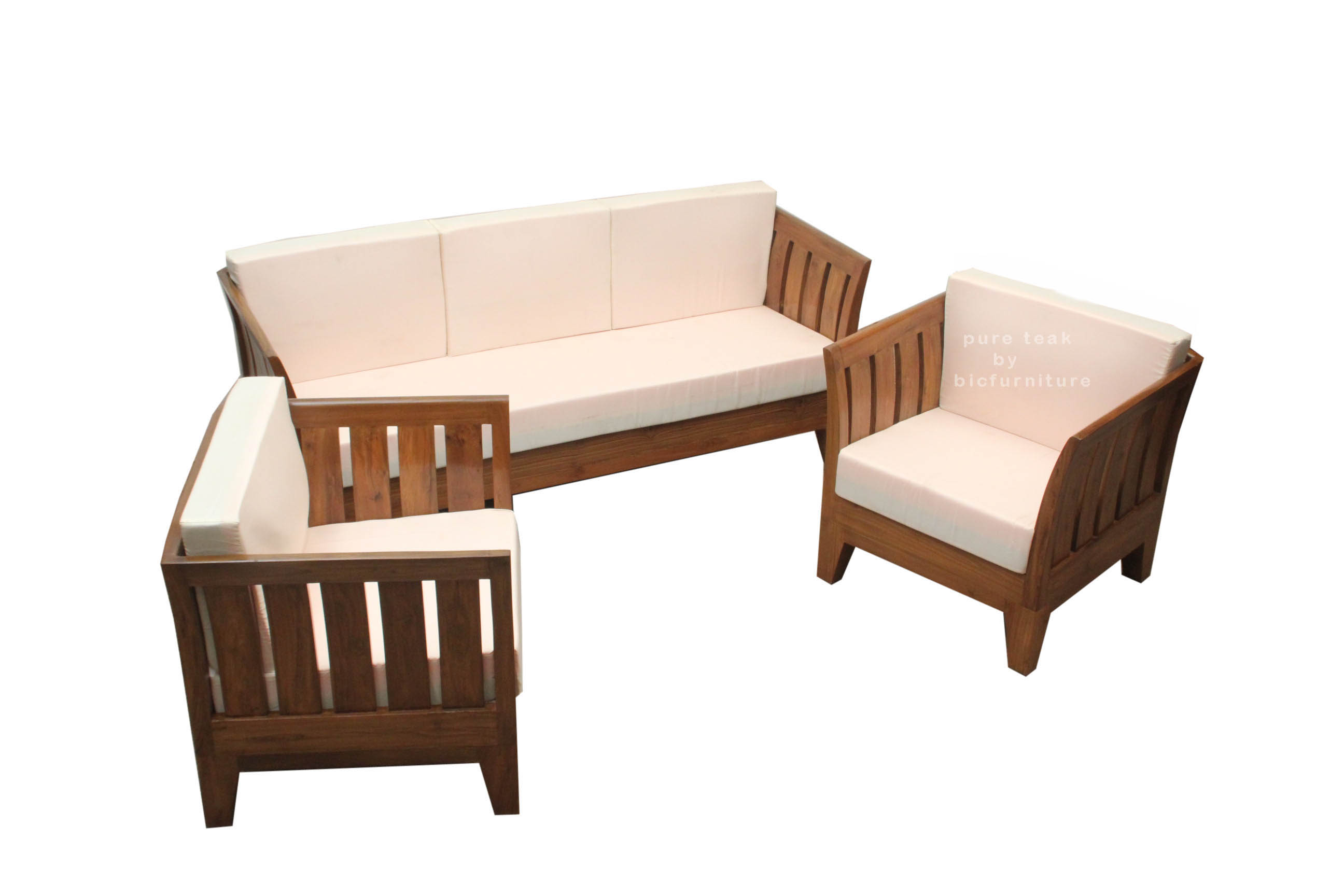 Teak Wood Sofa Set Ws 60 Details Bic Furniture India ~ Wooden Sofa Sets For Living Room